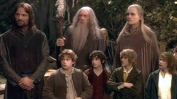 The fellowship from The Fellowship Of The Ring