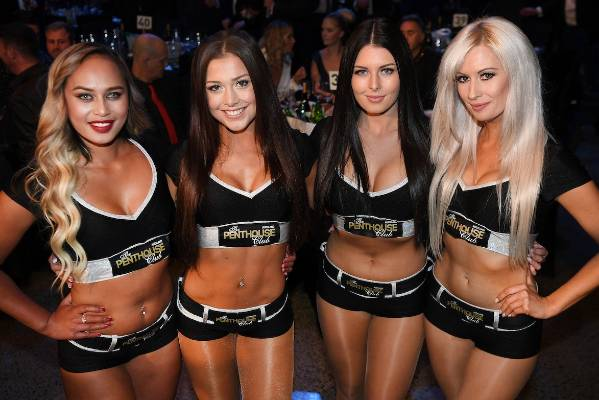 The promo ring girls.