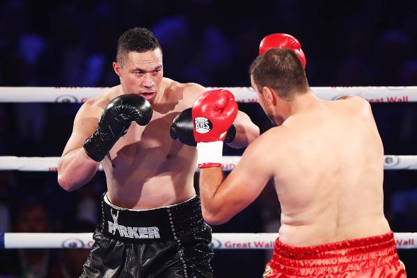 Joseph Parker feels his way into the fight.