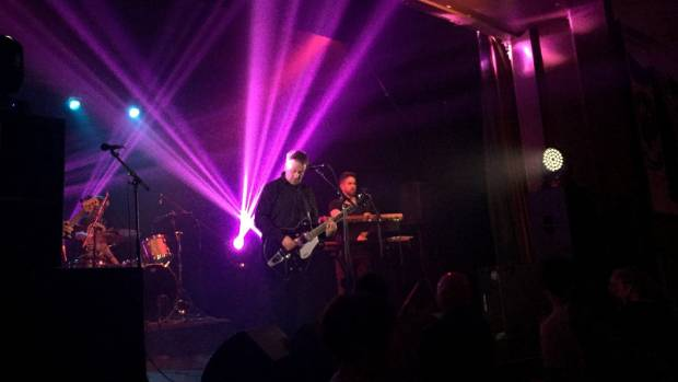 The Chills' 11-stop comeback tour traveled from Invercargill to Auckland. Here, they play at Invercargill's Scottish Hall.