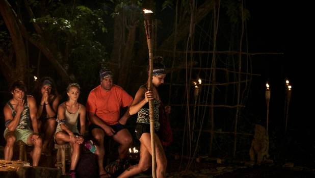 Survivor's biggest fan packs her pole and leaves.