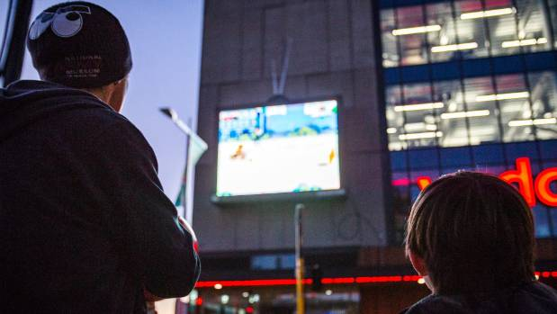 A new game is set to take over Christchurch's big Tuam St screen in the coming weeks.