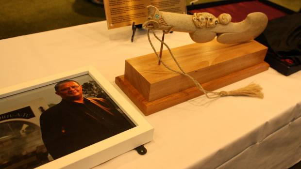The patu was returned to its rightful home at a ceremony on Monday morning.