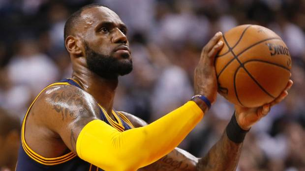 LeBron James led the Cleveland Cavaliers into the Eastern Conference finals