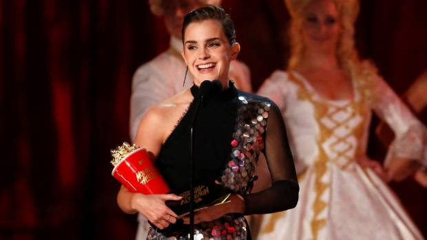 Emma Watson won MTV's first non-binary acting award, Best Actor in a Film, for her role in Beauty and the Beat.