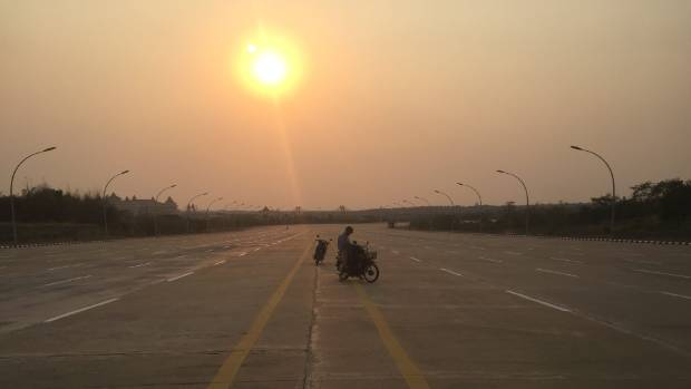 The 20-lane boulevard in Naypyidaw, Myanmar, is something to behold.
