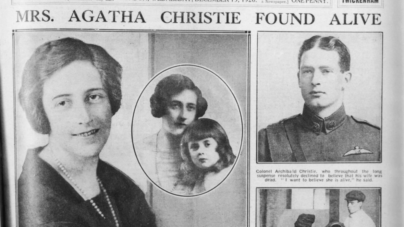 ผลการค้นหารูปภาพสำหรับ agatha christie disappearance