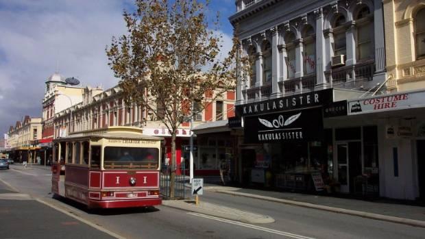 Heritage buildings in Fremantle.