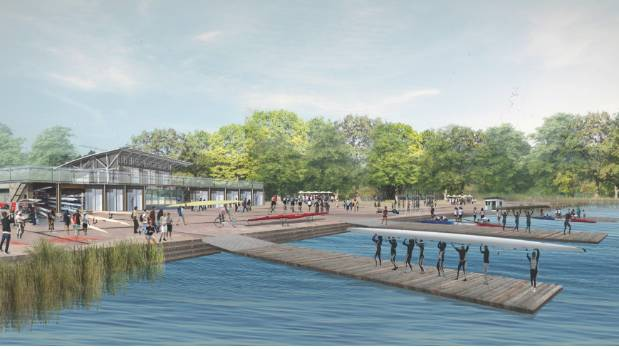 An indicative concept for what the East Lake Trust's flat water sports facility could look like if given the go-ahead.