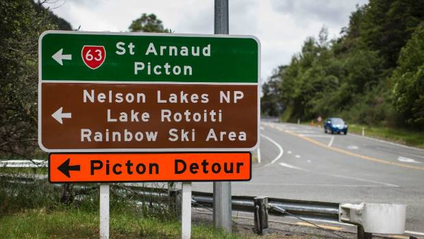 The alternative route will be the South Island's main road until SH1 is repaired, which is expected to be before Christmas.