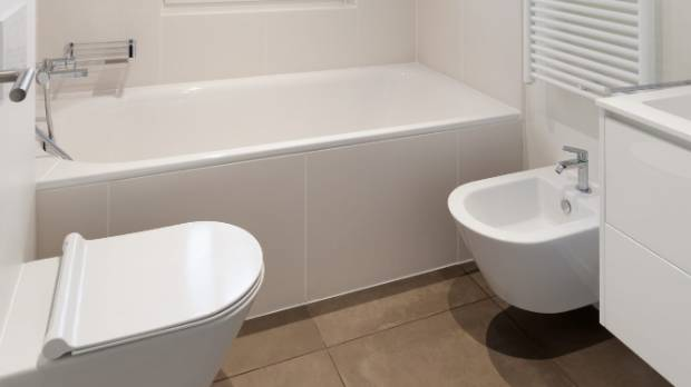 The Bidet Blends Right In To This Crisp, White Bathroom.