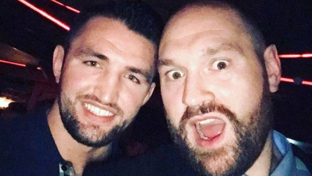 Boxing cousins Hughie Fury and Tyson Fury out on the town in London, England, the same weekend the former was meant to ...