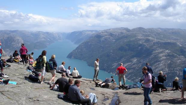 Preikestolen or Prekestolen is a famous tourist attraction in the municipality of Forsand in Rogaland county.