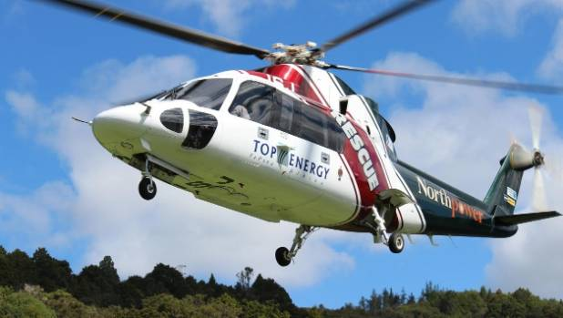 Winching the man out of the forest was the only option, so the Northland Rescue Helicopter was dispatched. (FILE)