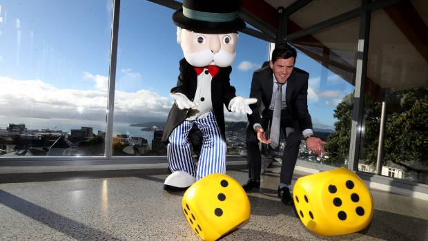 Mr Monopoly and Wellington Mayor Justin Lester will host an event in November to reveal the completed Monopoly ...