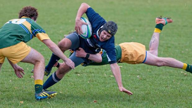 Southland's sub-union teams will play Premier grade opponents in club rugby. A flying tackle from Te Anau's Sais ...