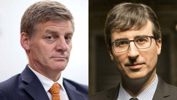 Being mocked by John Oliver might bolster 'tourism and trade' - Bill English