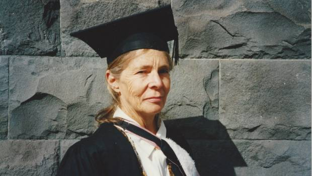 Lois Dudding on her graduation day in the 1990s.