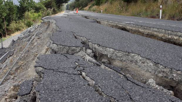 Cracks in the highway south of Clarence. (File photo)