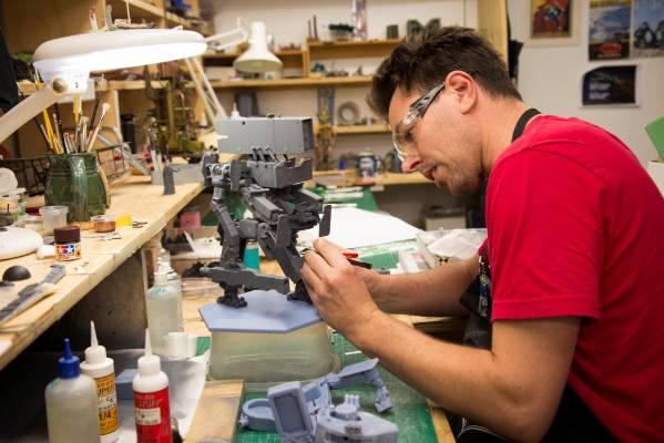 A Weta Workshop artist at work.