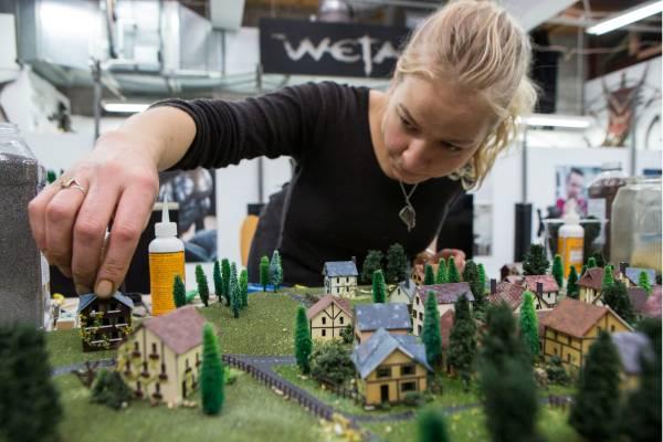 A Weta Workshop artist creates a Swiss village for Thunderbirds.