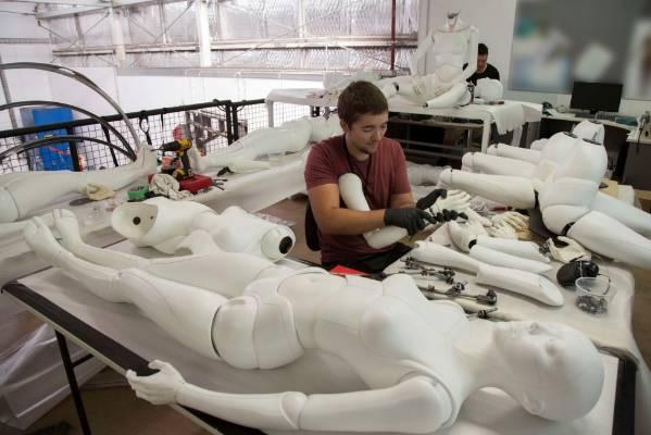 Weta Workshop artist at work.