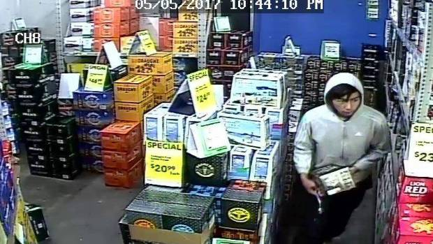 Store manager Dalvir Gill believes the two robbers were teenagers.