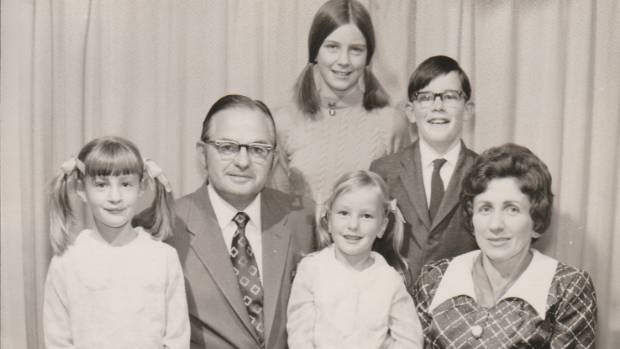 Alexia Pickering with her family photographed in the 1970s.