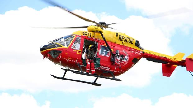 The Waikato Westpac Rescue Helicopter landed on the helipad at the top of the summit and winched the man out by super ...