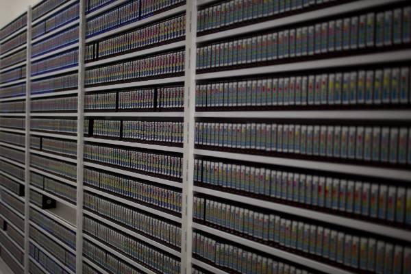 Files on tape in Weta Digital's data centre.