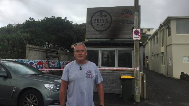 Adrian Doggett the day his business Adey's Place was gutted.