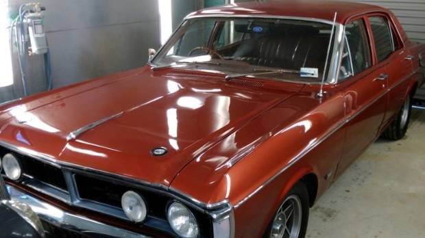 This 1971 Ford Falcon XY was stolen from a farm shed near Mossburn in Southland. PHOTO: SUPPLIED.