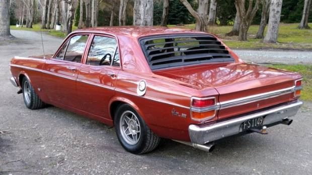 This 1971 Ford Falcon XY was stolen from a farm shed near Mossburn in Southland.