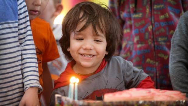 Langley Home Candles Birthday Cake