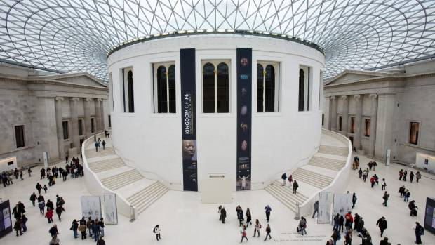 British Museum Courtyard covered by glass roof.