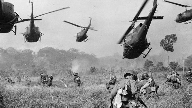 Helicopters and soldiers attack a Viet Cong camp during the Vietnam War. Most people still have limited understanding of ...