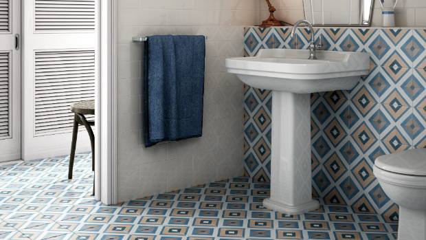 Caprice Deco square colour 200 x 200mm floor tiles $99.50/sqm from Tile Space.
