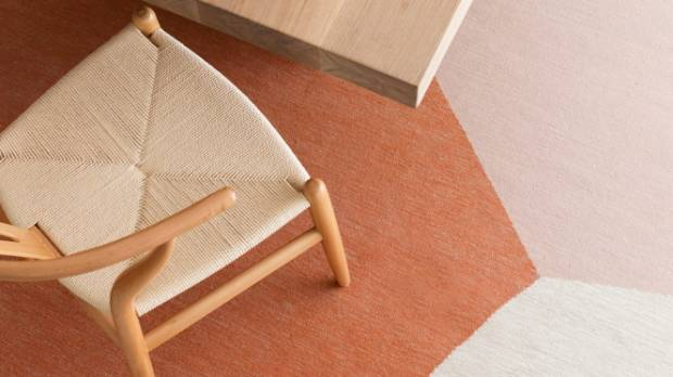 Armadillo & Co Marle collection Origami wool rug $391/sqm from The Ivy House.