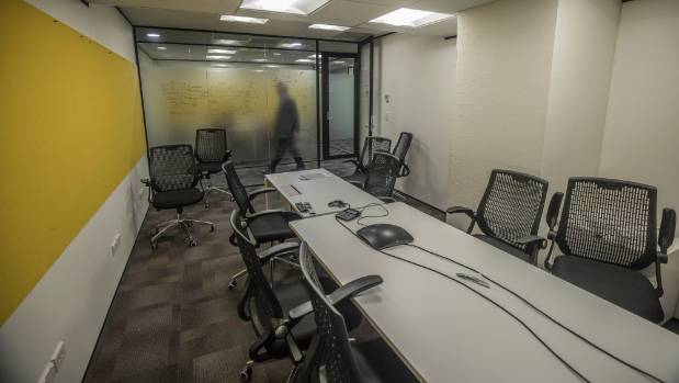 A meeting room in space occupied by Statistics New Zealand in Westpac House. The lease is costing the government ...