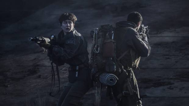 Alien: Covenant sees a group of colonists battling some terrifying beasts.