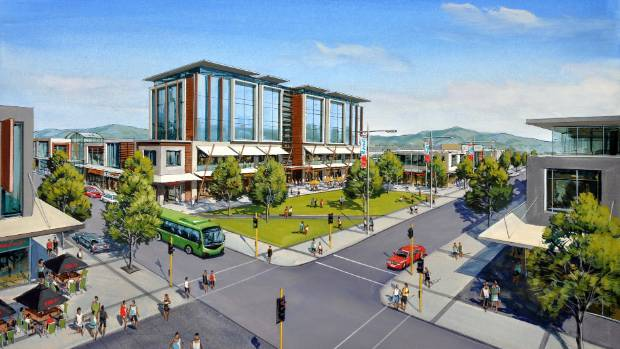 An artist's impression of the proposed Westgate Town Centre.