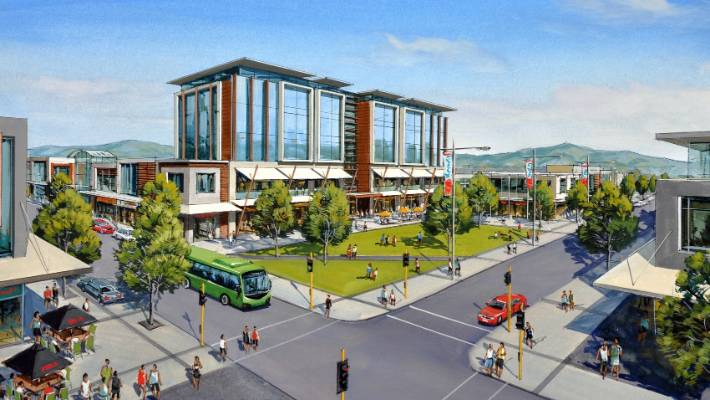 f5bd25691ce5 An artist s impression of the Westgate Town Centre being developed in  Auckland s ...