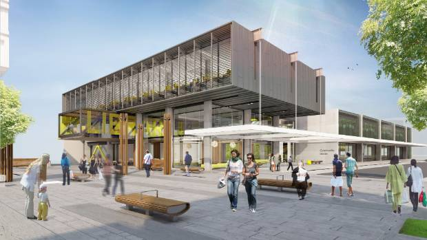 A library is yet to be completed in the Westgate Town Centre.