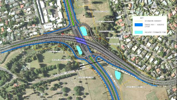 Roading projects will finish off the Hamilton Ring Road, pictured, and the Hamilton section of the Waikato Expressway.