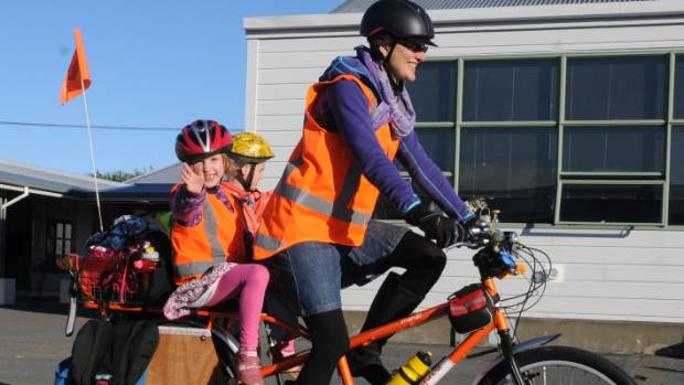 """Jo Clendon is known as the """"Cycling Mum""""."""