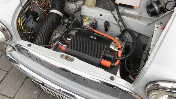Latest electric drivetrain for classic Mini now produces as much power as the original 850cc petrol engine (not much).