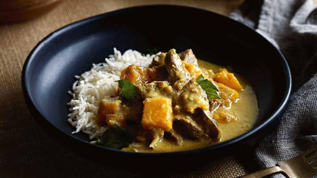 Kit Perera and his Sri Lankan lamb & pumpkin coconut curry.