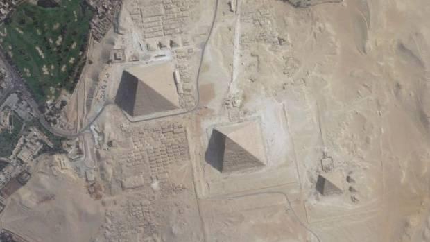 The Giza Plateau.