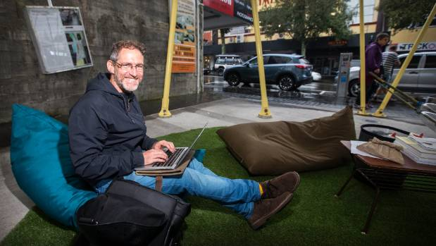 Graham Nelson said setting up his coworking business, Manifold, outside was a new way he could take part in New ...
