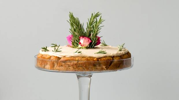 Rosemary gives this spice-laced cake an almost savoury flavour.